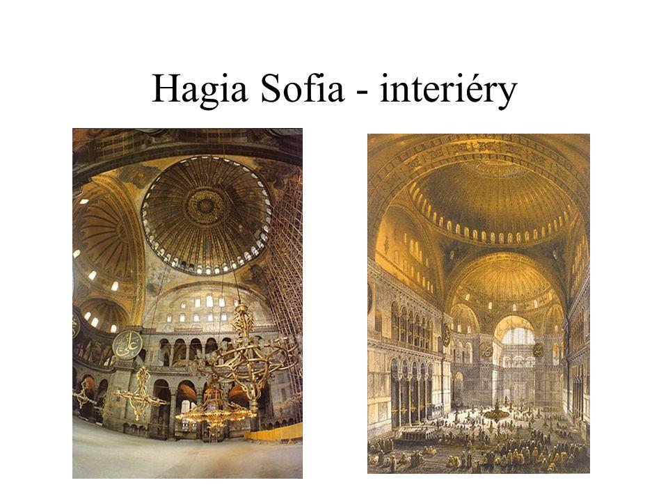 Hagia Sofia - interiéry