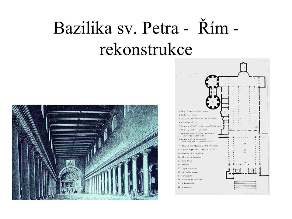 Bazilika sv. Petra - Řím - rekonstrukce