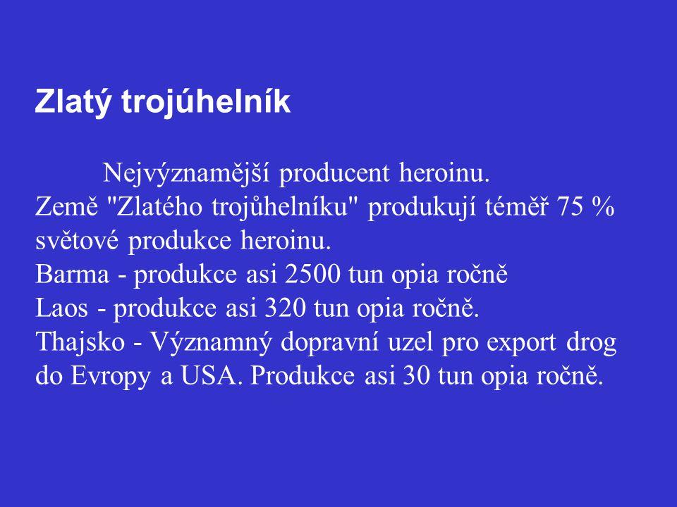 Zlatý trojúhelník. Nejvýznamější producent heroinu