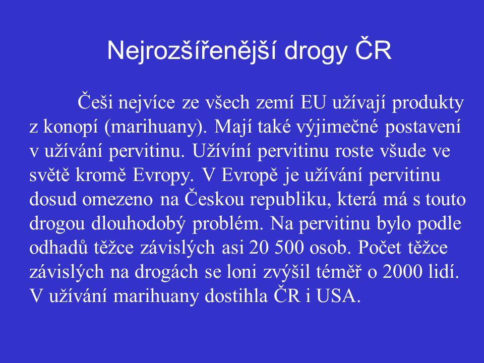 Nejrozšířenější drogy ČR