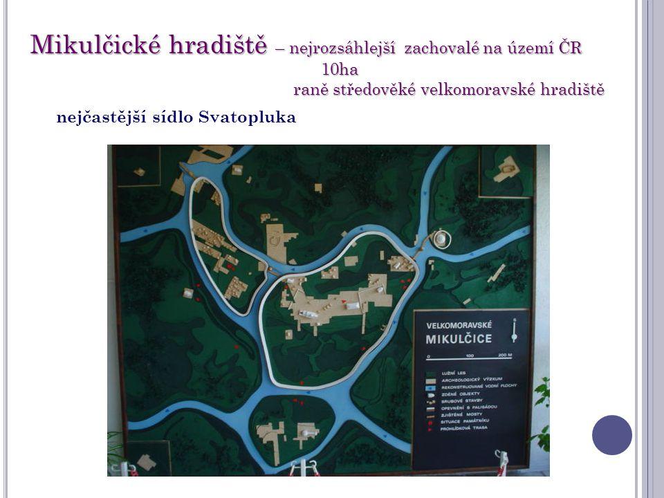Mikulčické hradiště – nejrozsáhlejší zachovalé na území ČR