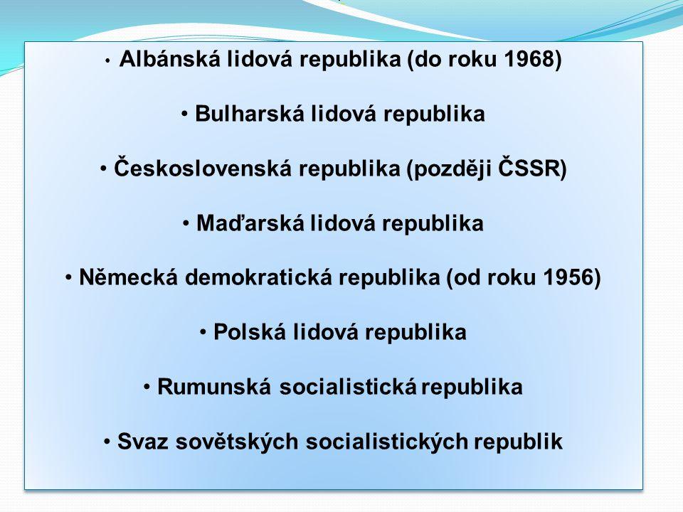 Bulharská lidová republika Československá republika (později ČSSR)