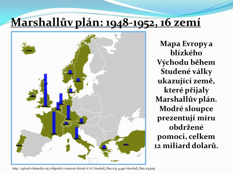 Marshallův plán: 1948-1952, 16 zemí