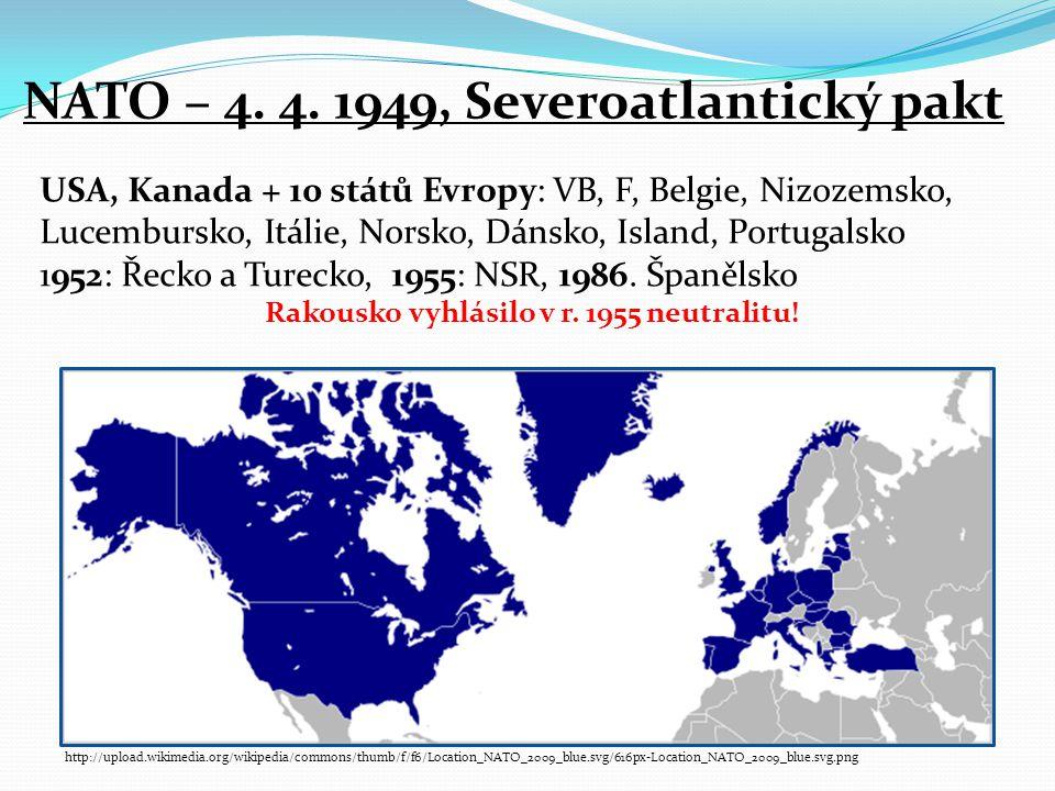 Rakousko vyhlásilo v r. 1955 neutralitu!