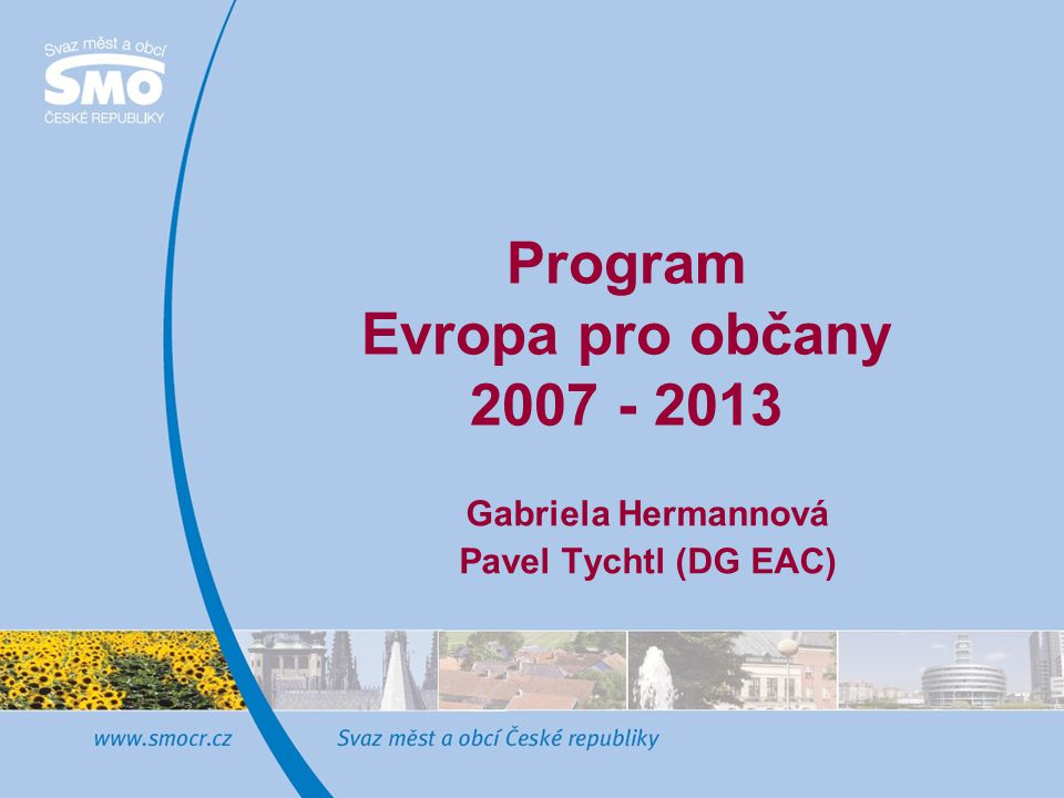 Program Evropa pro občany 2007 - 2013