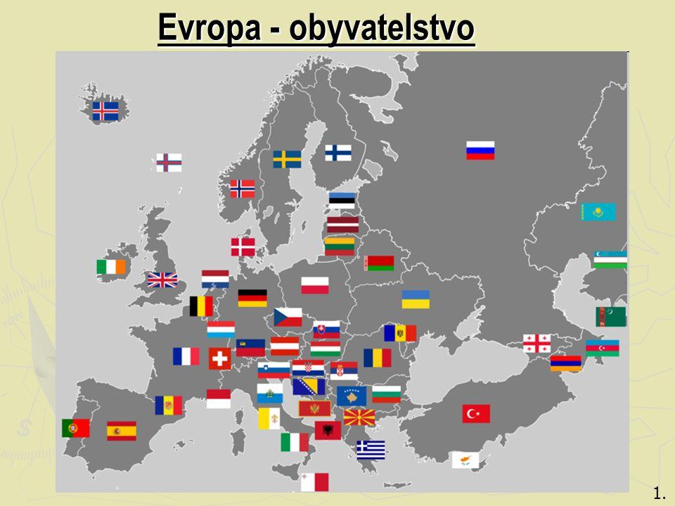 Evropa - obyvatelstvo 1.