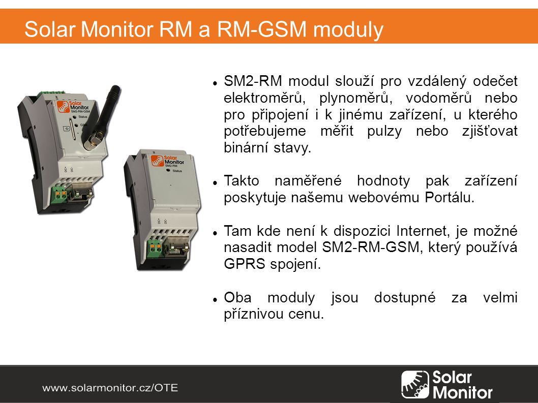 Solar Monitor RM a RM-GSM moduly