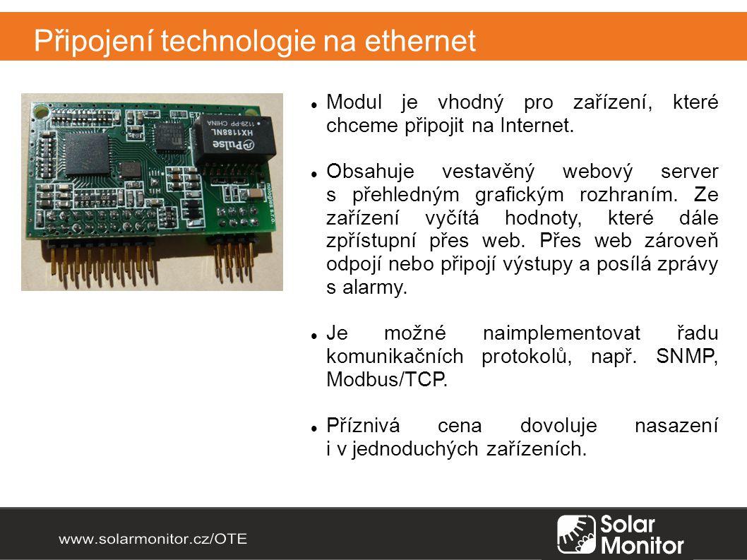 Připojení technologie na ethernet