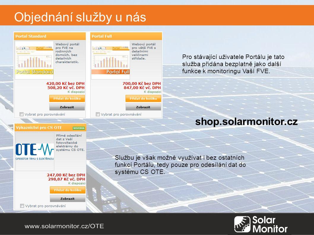 Objednání služby u nás shop.solarmonitor.cz