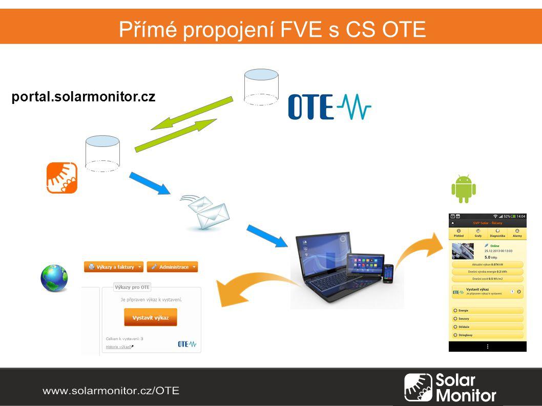 Přímé propojení FVE s CS OTE