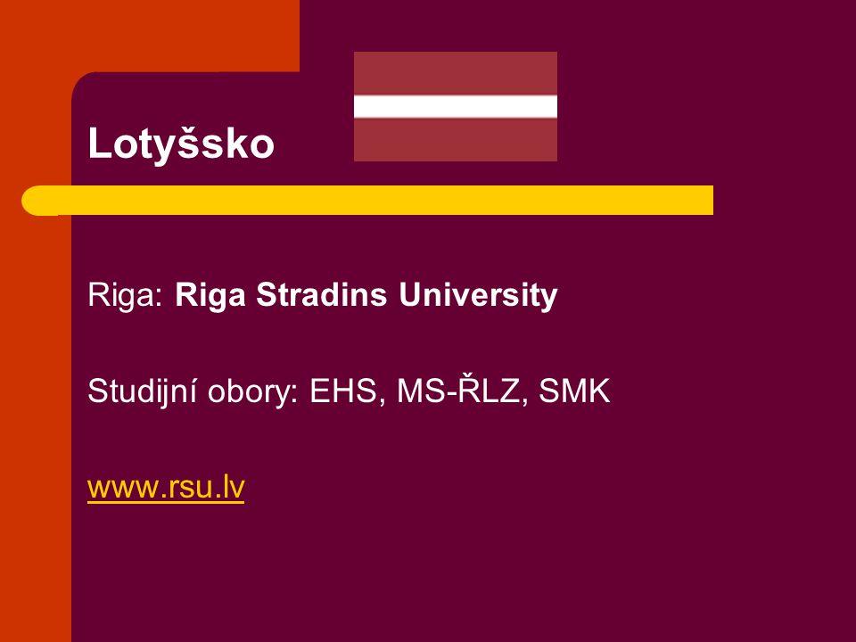 Lotyšsko Riga: Riga Stradins University