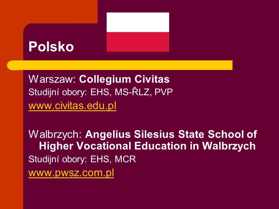Polsko Warszaw: Collegium Civitas www.civitas.edu.pl