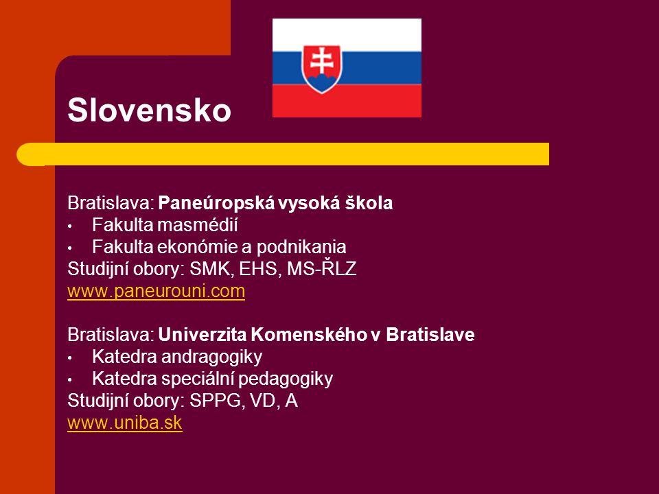 Slovensko Bratislava: Paneúropská vysoká škola Fakulta masmédií