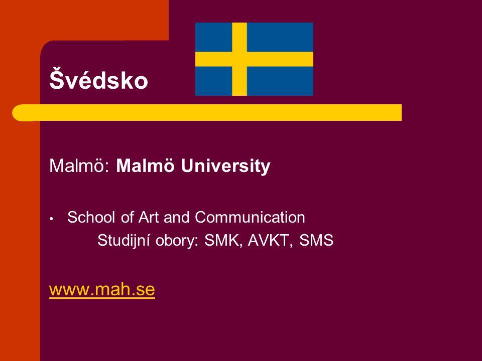Švédsko Malmö: Malmö University www.mah.se