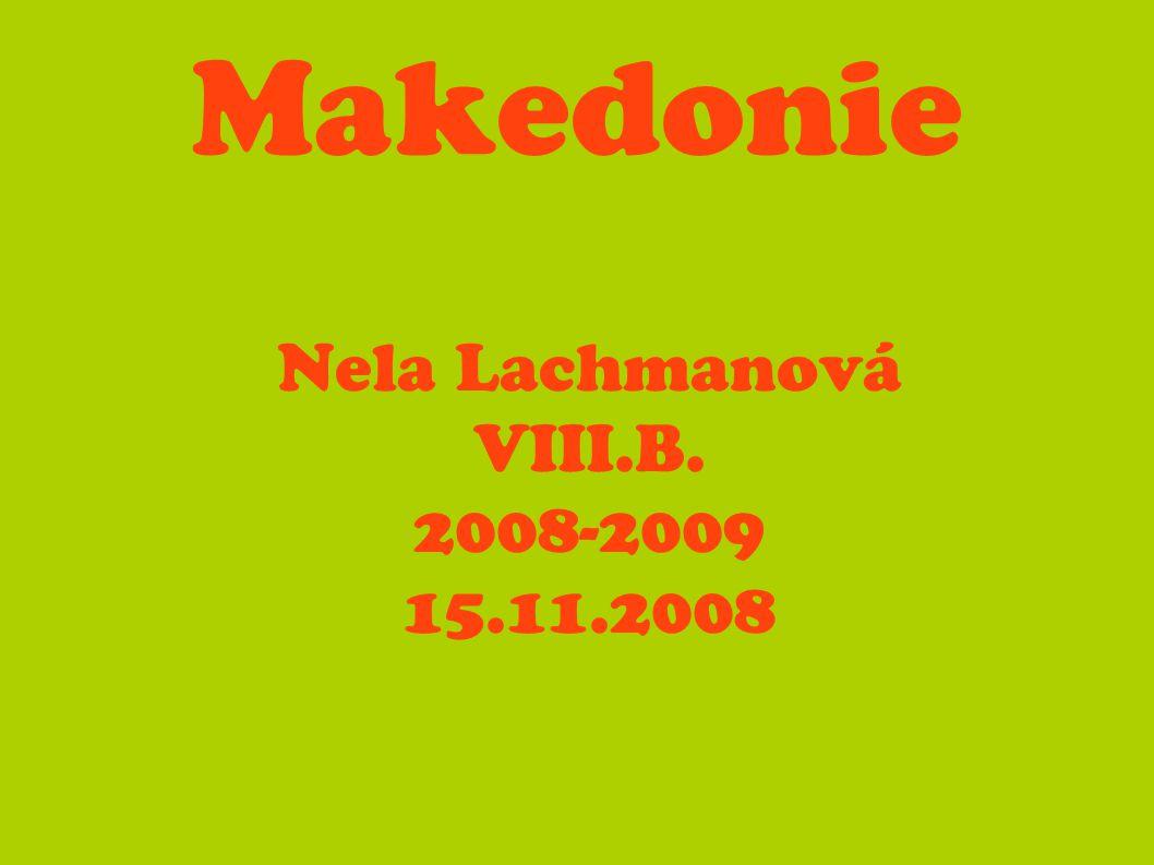 Nela Lachmanová VIII.B. 2008-2009 15.11.2008