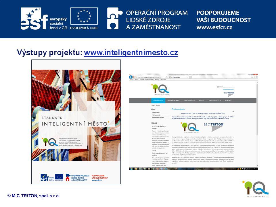 Výstupy projektu: www.inteligentnimesto.cz