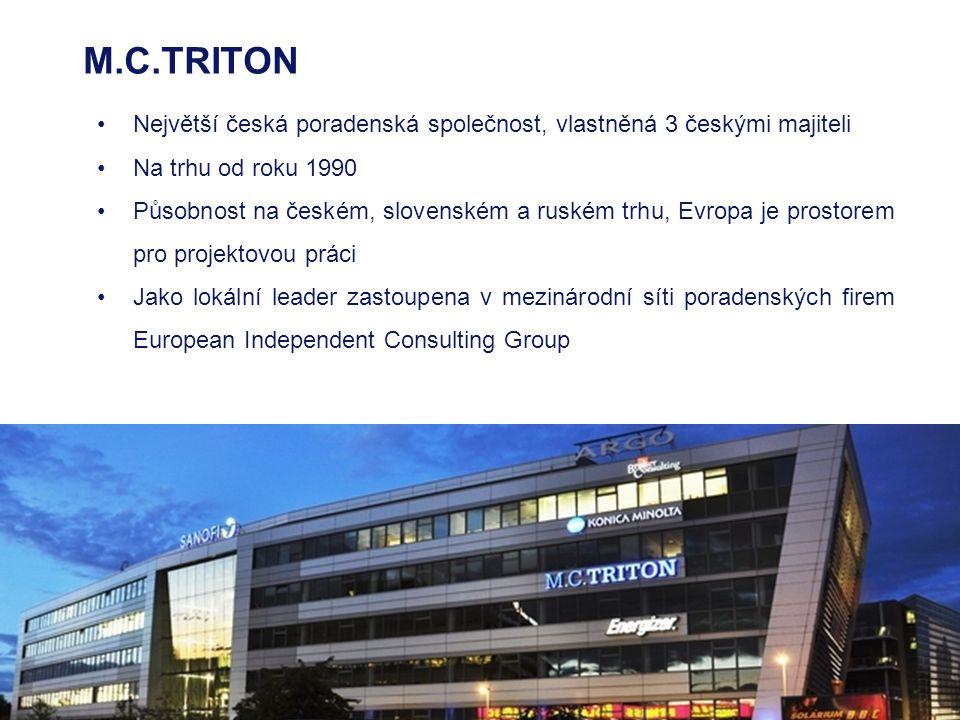 M.C.TRITON Největší česká poradenská společnost, vlastněná 3 českými majiteli. Na trhu od roku 1990.