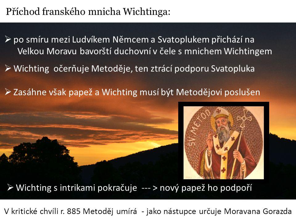 Příchod franského mnicha Wichtinga: