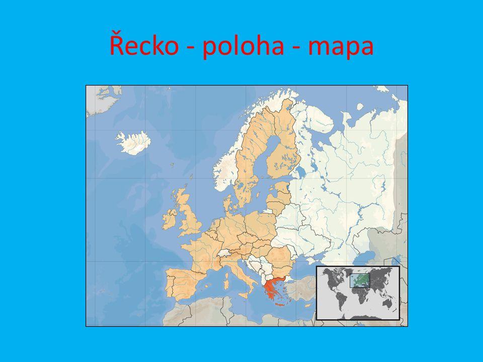 Řecko - poloha - mapa