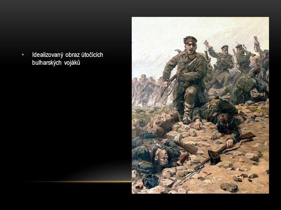 Idealizovaný obraz útočících bulharských vojáků