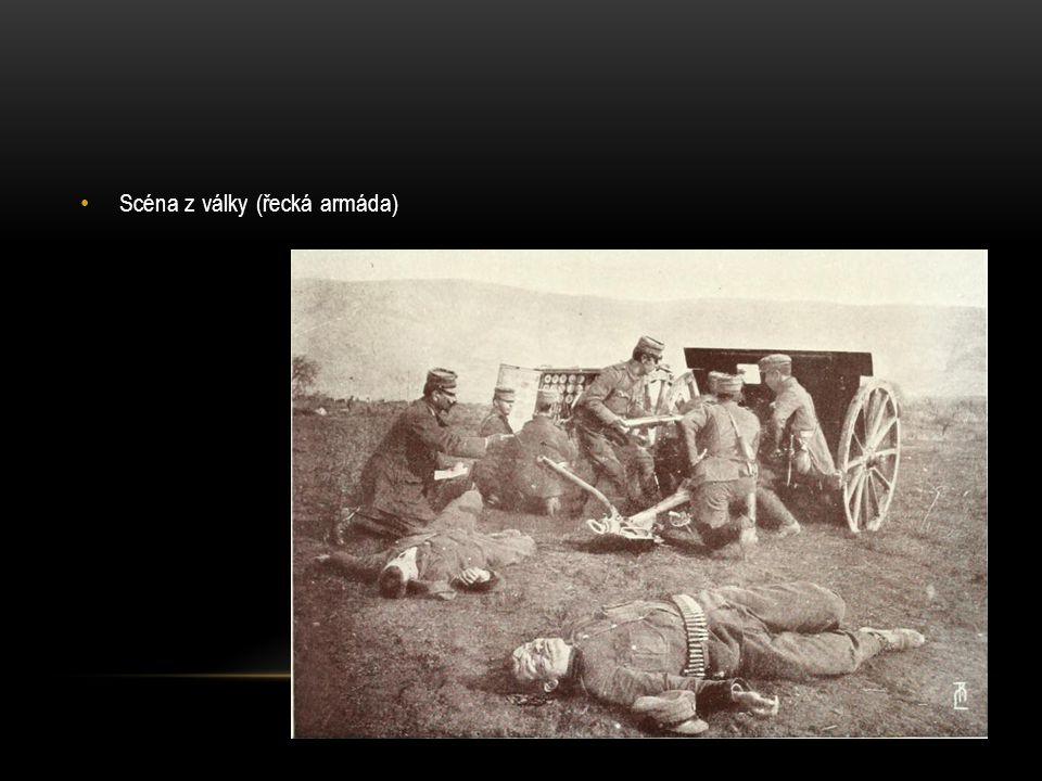 Scéna z války (řecká armáda)