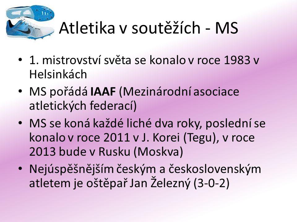 Atletika v soutěžích - MS