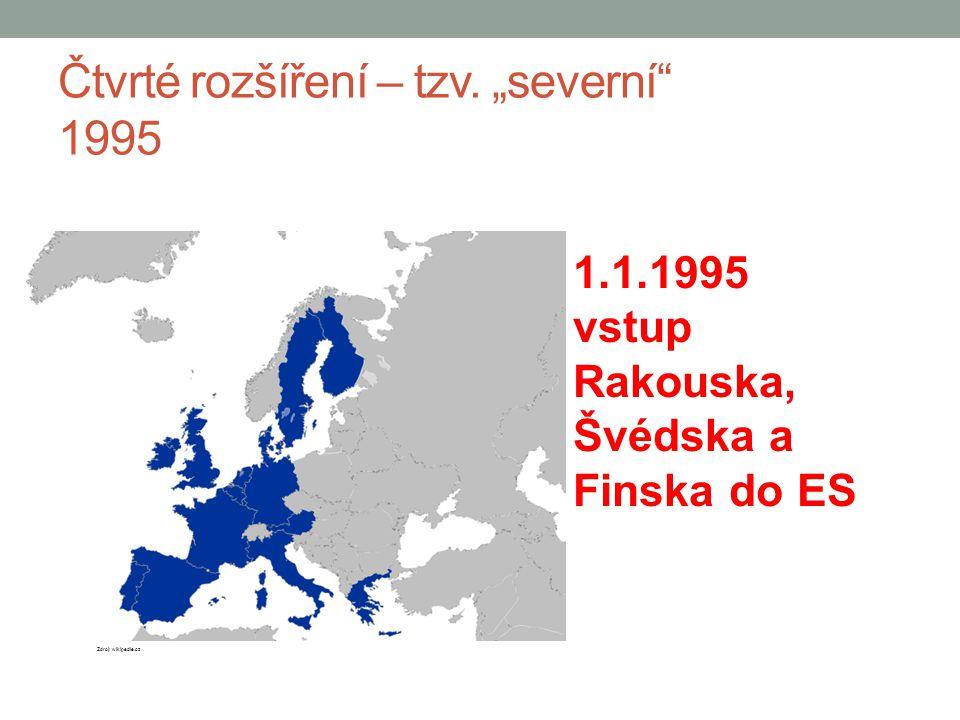 """Čtvrté rozšíření – tzv. """"severní 1995"""