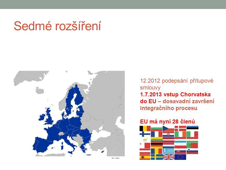Sedmé rozšíření 12.2012 podepsání přítupové smlouvy