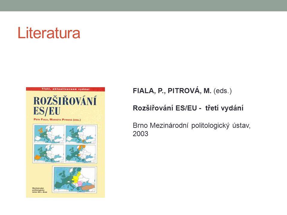 Literatura FIALA, P., PITROVÁ, M. (eds.)