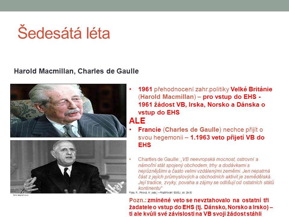 Šedesátá léta ALE Harold Macmillan, Charles de Gaulle