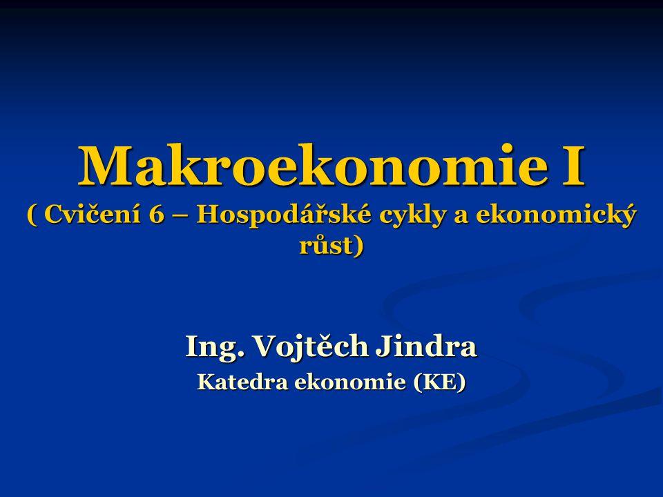 Makroekonomie I ( Cvičení 6 – Hospodářské cykly a ekonomický růst)