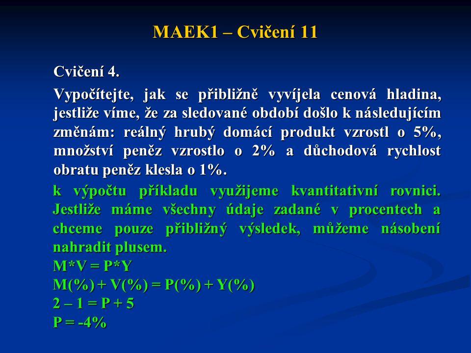 MAEK1 – Cvičení 11