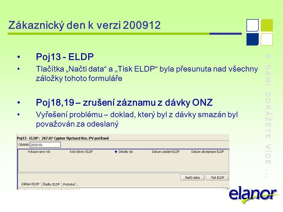 Zákaznický den k verzi 200912 Poj13 - ELDP