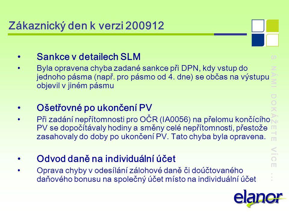 Zákaznický den k verzi 200912 Sankce v detailech SLM