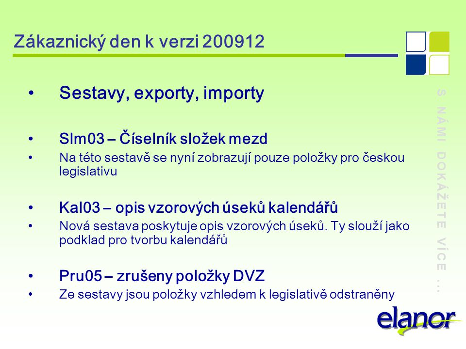 Sestavy, exporty, importy