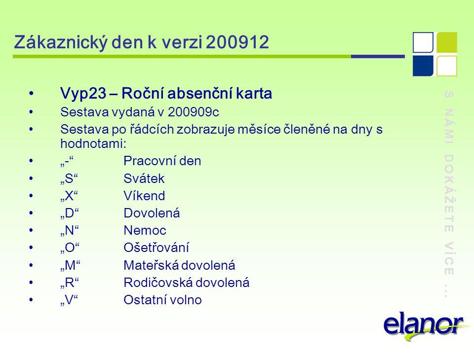 Zákaznický den k verzi 200912 Vyp23 – Roční absenční karta