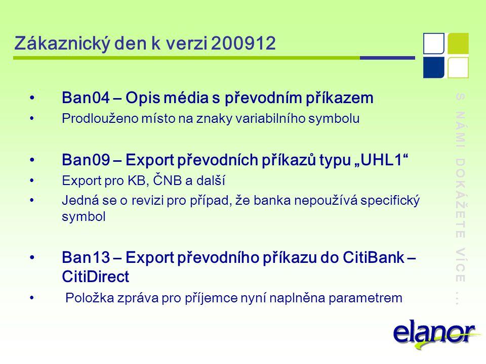 Zákaznický den k verzi 200912 Ban04 – Opis média s převodním příkazem