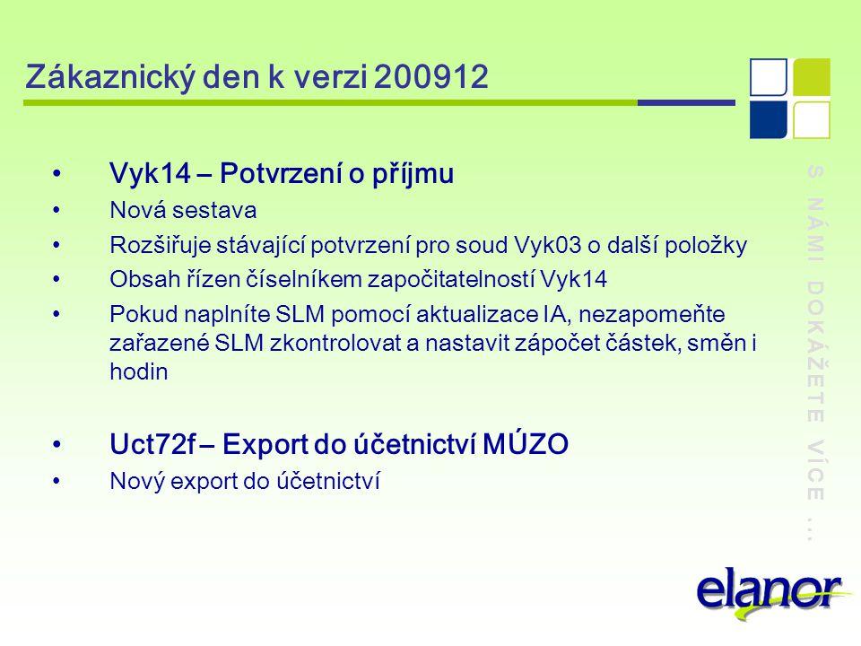 Zákaznický den k verzi 200912 Vyk14 – Potvrzení o příjmu