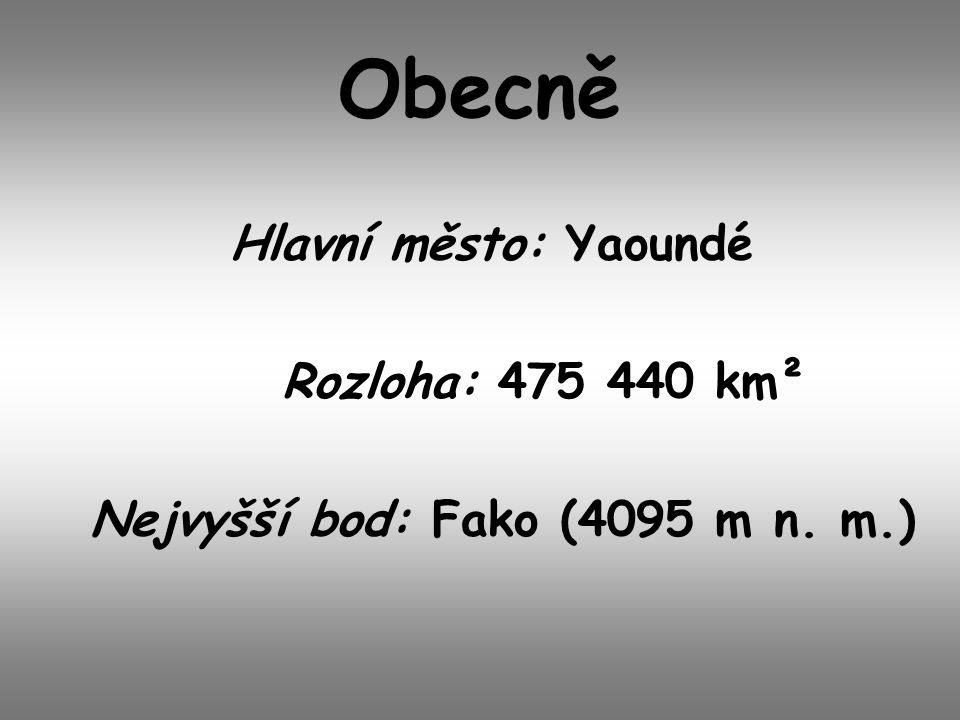 Nejvyšší bod: Fako (4095 m n. m.)