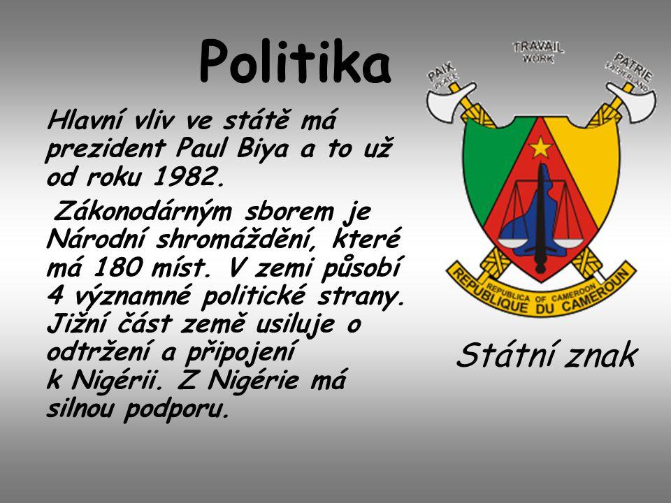 Politika Hlavní vliv ve státě má prezident Paul Biya a to už od roku 1982.