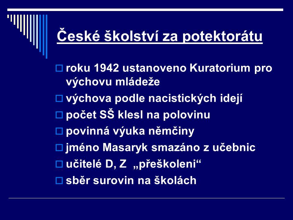 České školství za potektorátu
