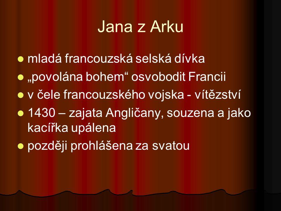Jana z Arku mladá francouzská selská dívka