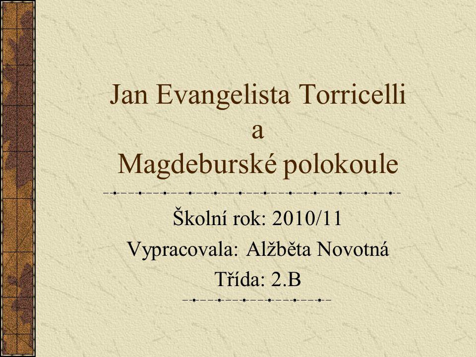 Jan Evangelista Torricelli a Magdeburské polokoule