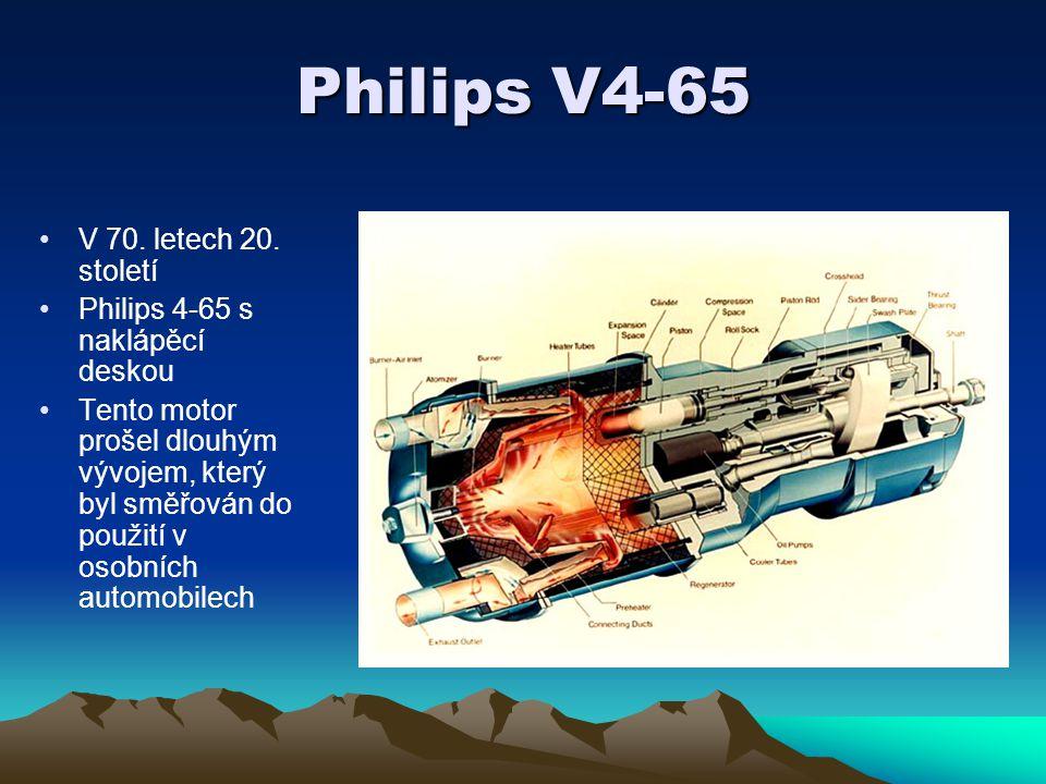 Philips V4-65 V 70. letech 20. století Philips 4-65 s naklápěcí deskou