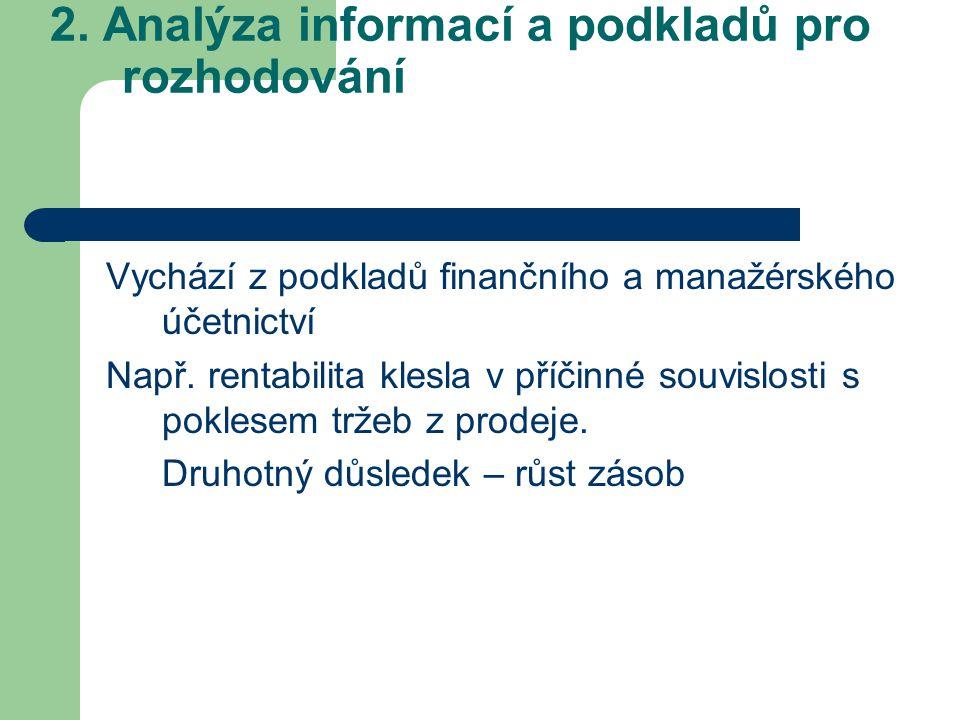 2. Analýza informací a podkladů pro rozhodování