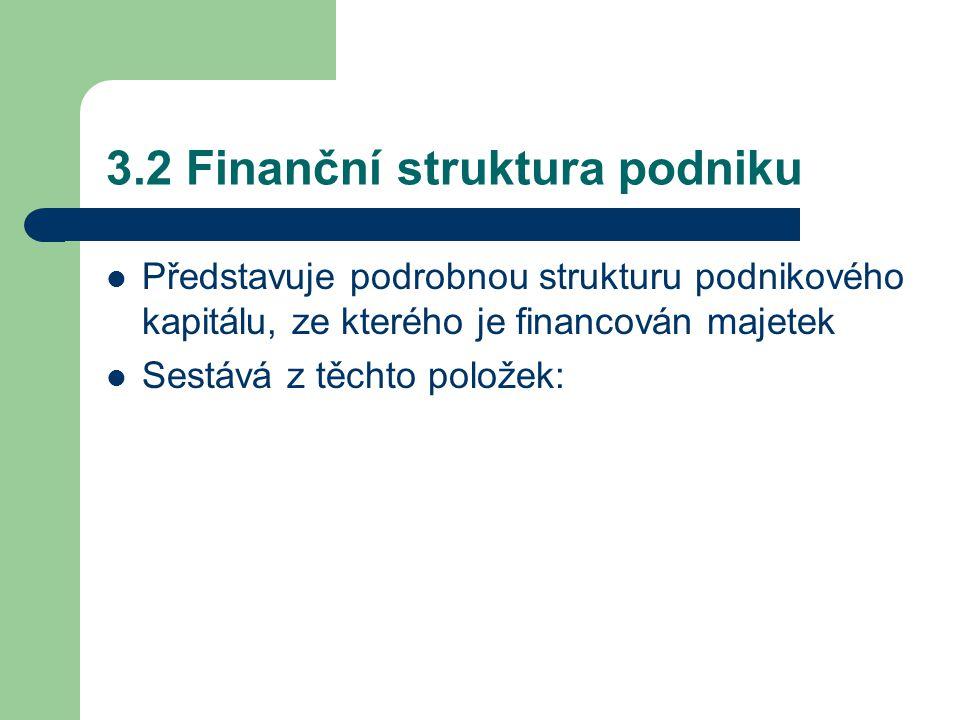 3.2 Finanční struktura podniku