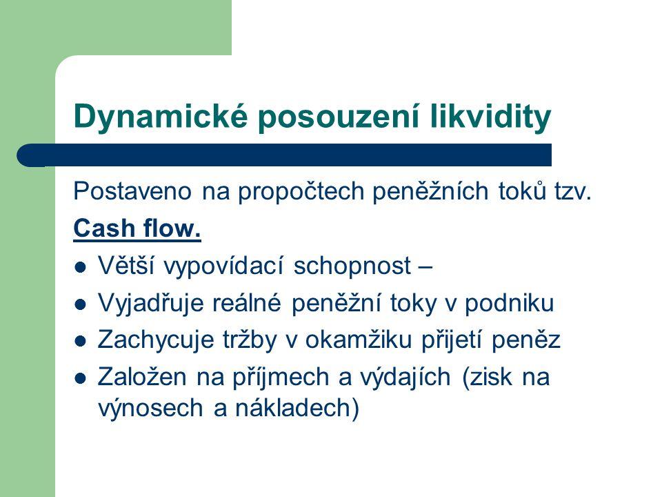 Dynamické posouzení likvidity