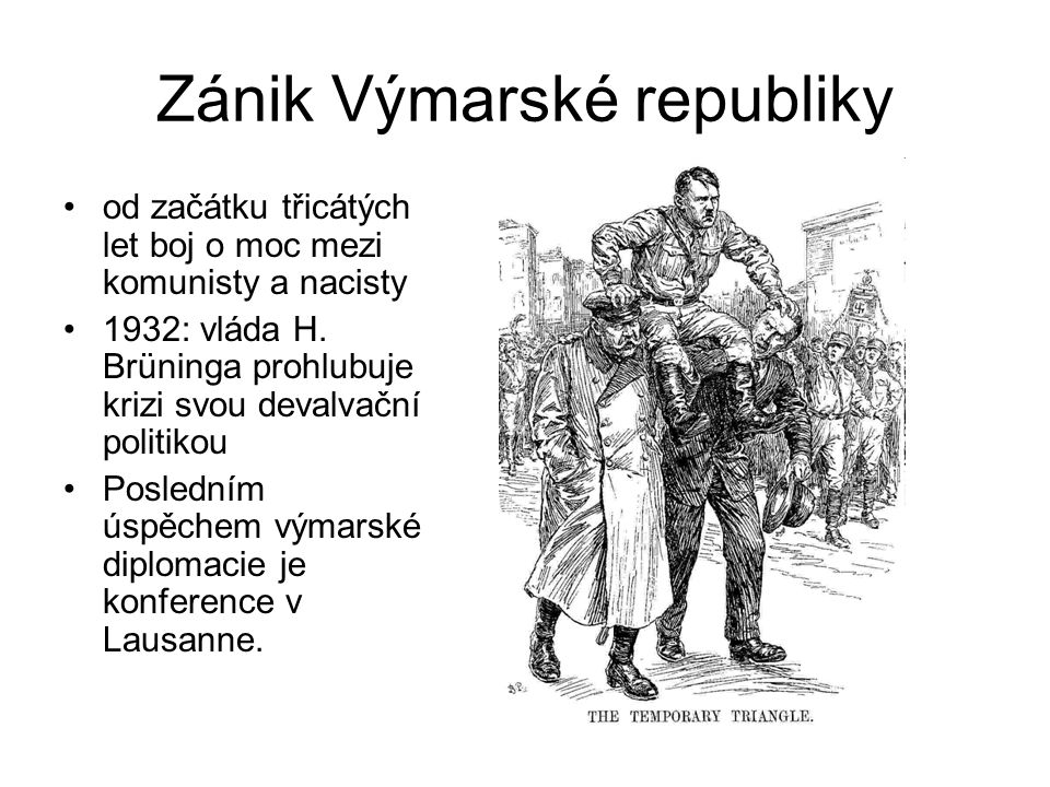 Zánik Výmarské republiky