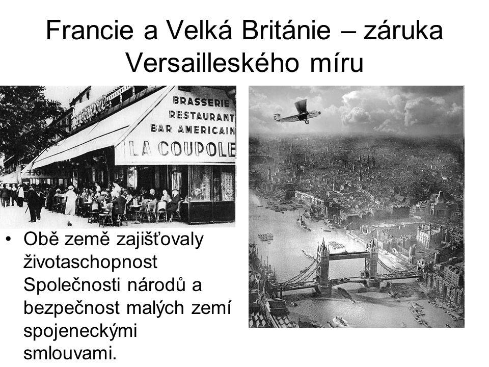 Francie a Velká Británie – záruka Versailleského míru