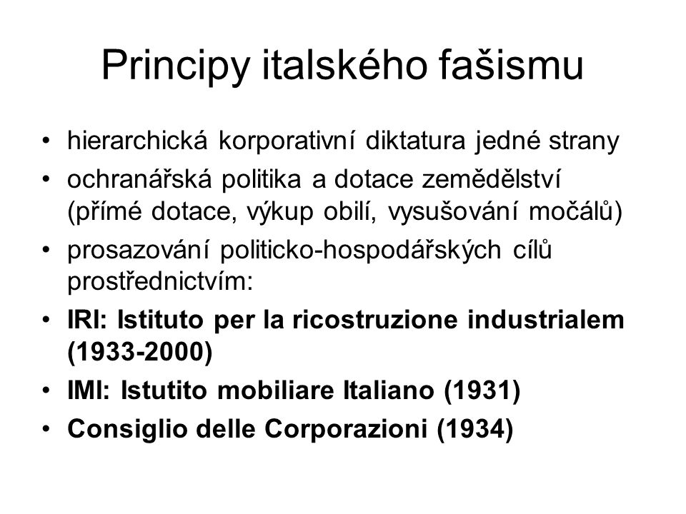 Principy italského fašismu